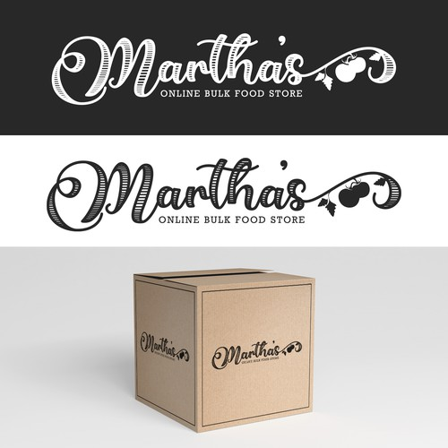 Organic logo for Martha's Bulk Food Store