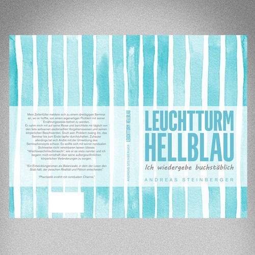 Book cover design for Leuchttrum Hellblau
