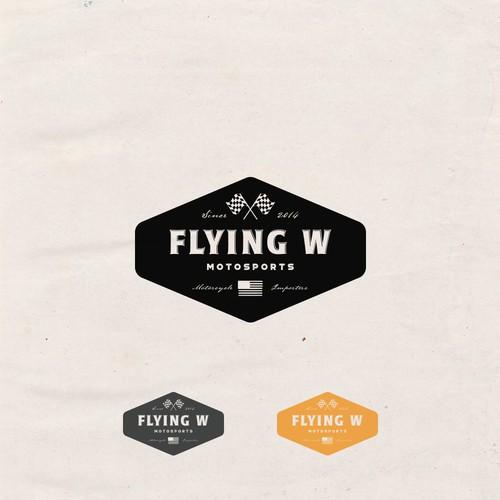 Logo Design for Flying W Motorsports