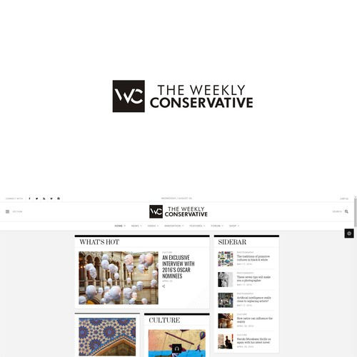 Create an elegant, compelling logo for political news site