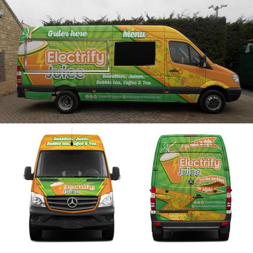 Electrify van wrap