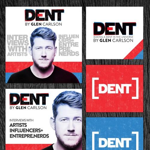 Bold concept for Dent podcast brand