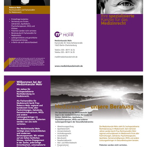Brochure for Medizinkanclei Mohr