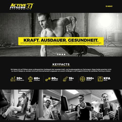 Webdesign - Fitnessstudio