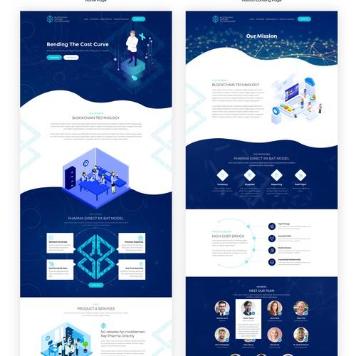 , Blockchain based private Medical company WEBSITE Design