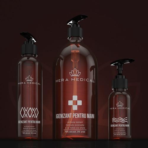 Premium Concept label design for hand sanitizer