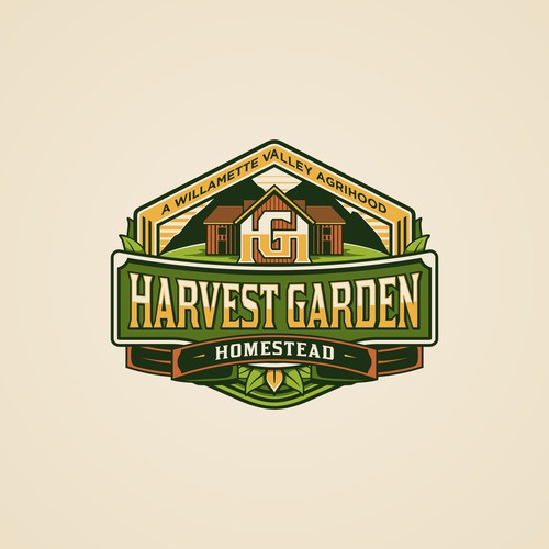 Nature Badge Concept for Harvest Garden Homestead