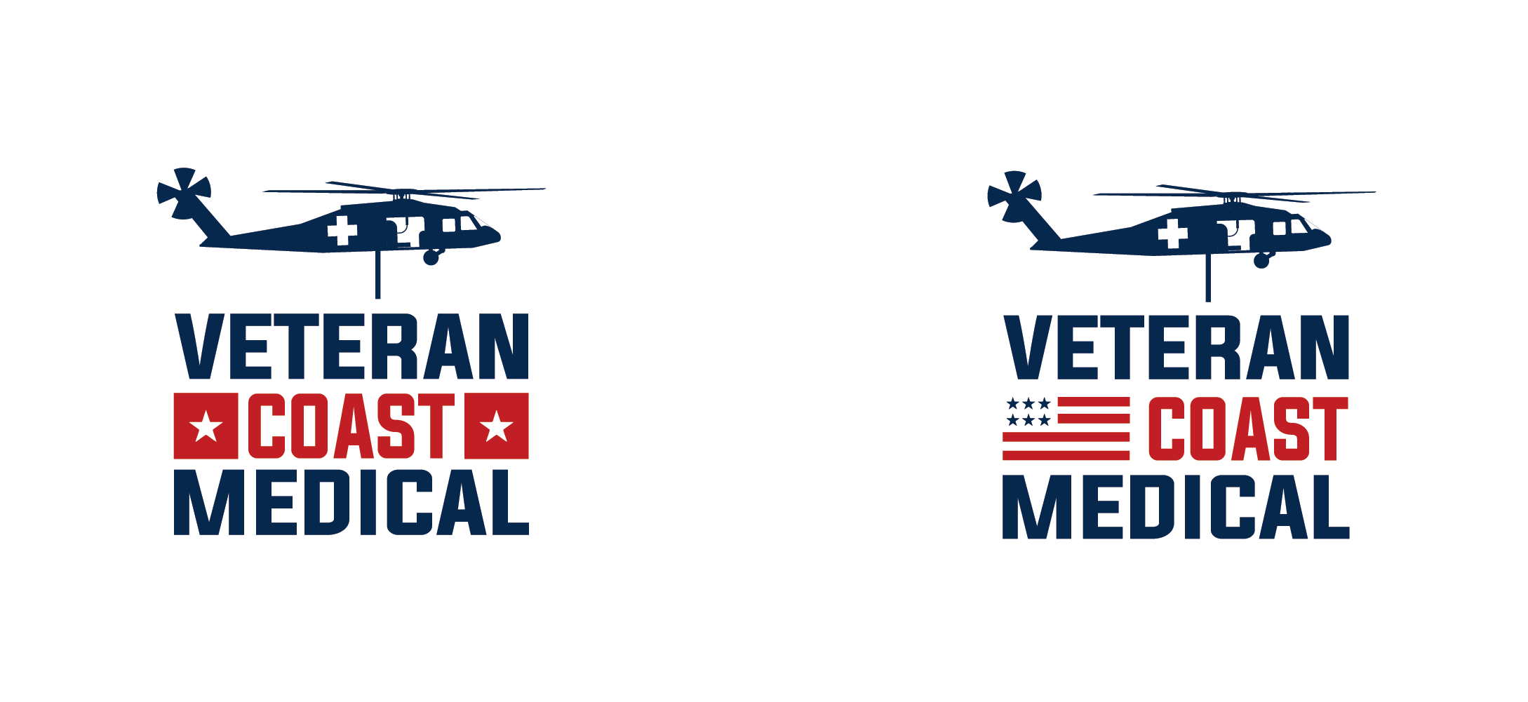 Logo for a veteran-owned medical supply and equipment company.