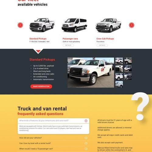 Landing Page - Marcus Allard Truck Rental