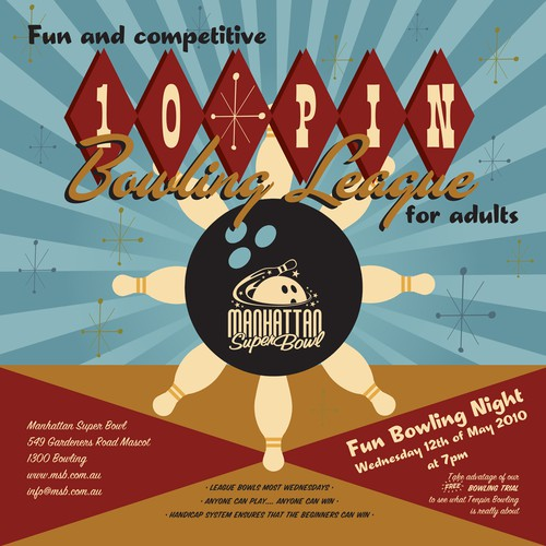 Design Ad for Tenpin bowling league