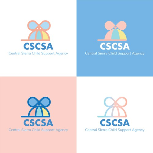 Vibrant logo for a child support agency