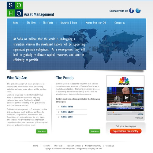 New website design wanted for SoHo Asset Management