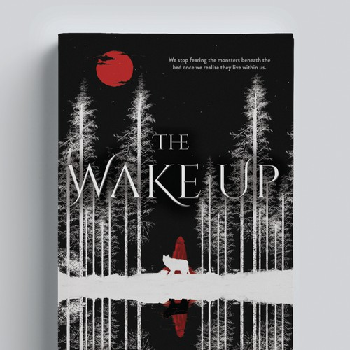 The Wake Up,  a surreal cover for a dark fantasy novel
