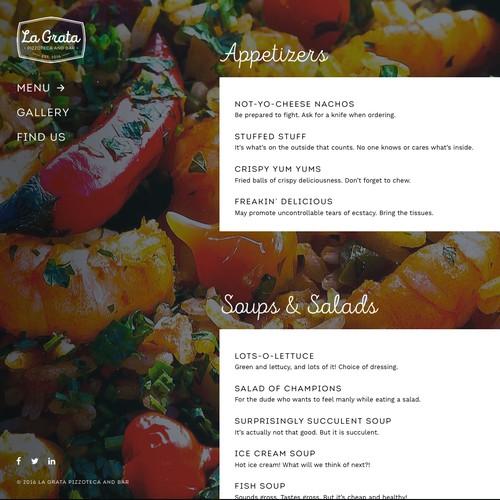 Web Design - La Grata Pizzoteca