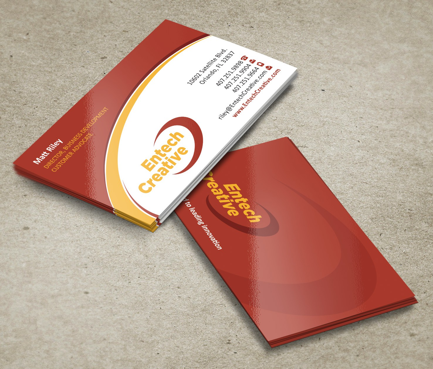 stationery for Entech Creative