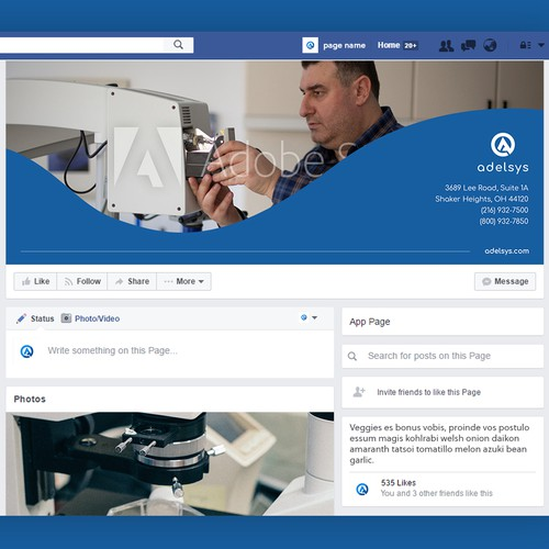 Facebook Banner for Biomedical Company
