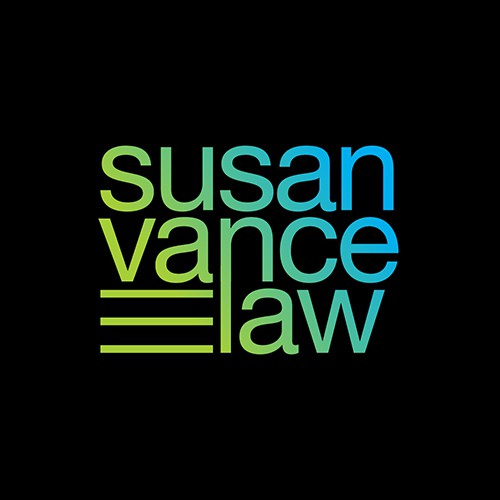 logo and business card for a law office