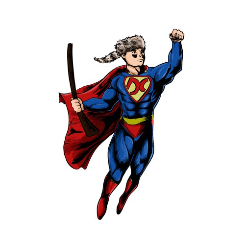 Design a Tank- Top with Davy Crocket as Superman!