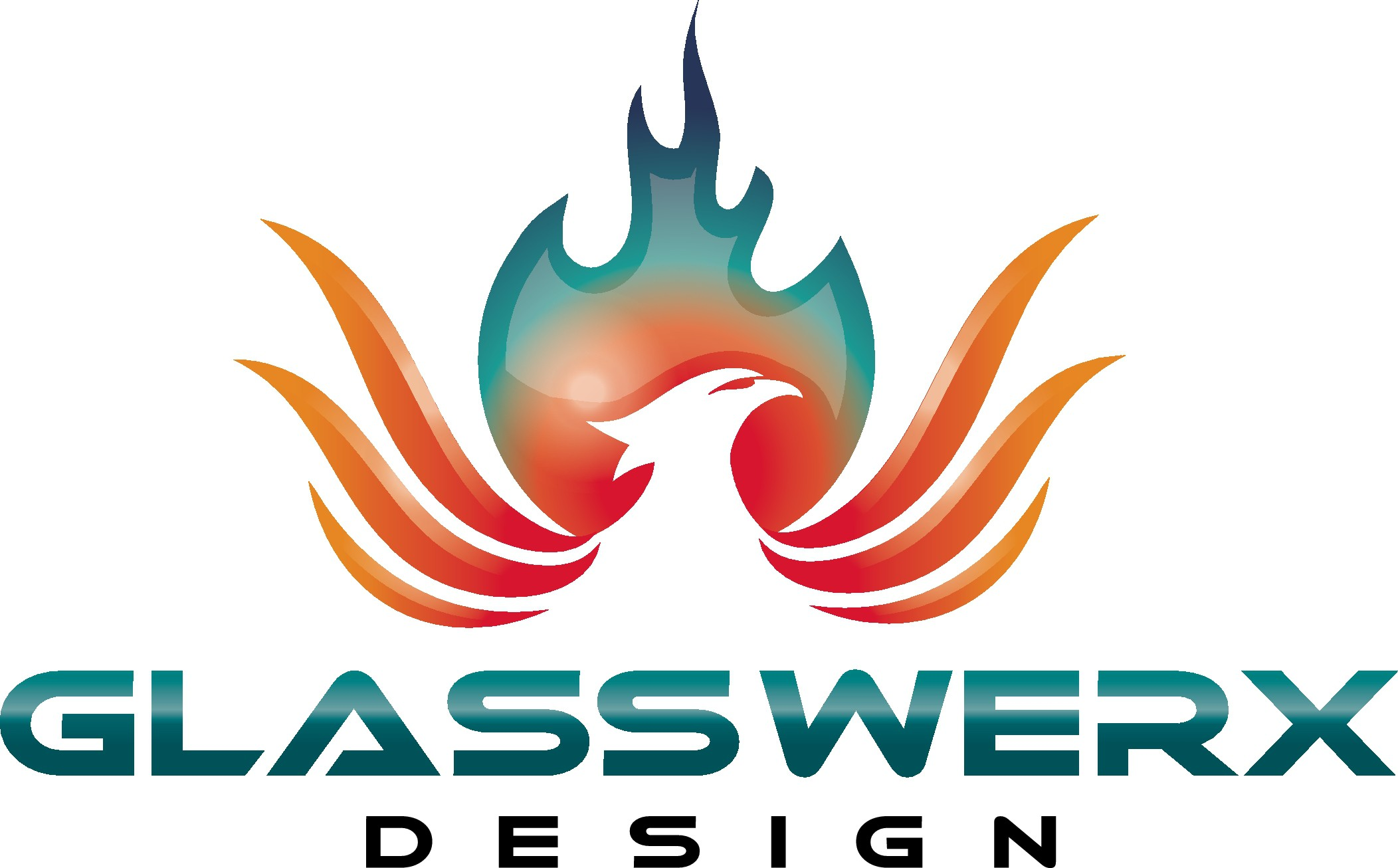 Design an exciting Phoenix logo for GlassWerx Design.
