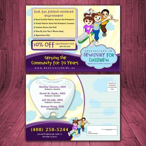 Pediatric Dentistry/Orthodontic Practice Postcard