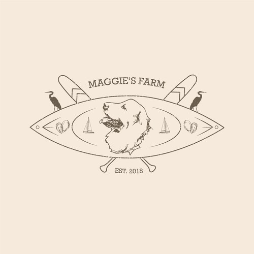 concept for family farm house logo