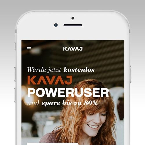 Landingpage Design | KAVAJ POWERUSER