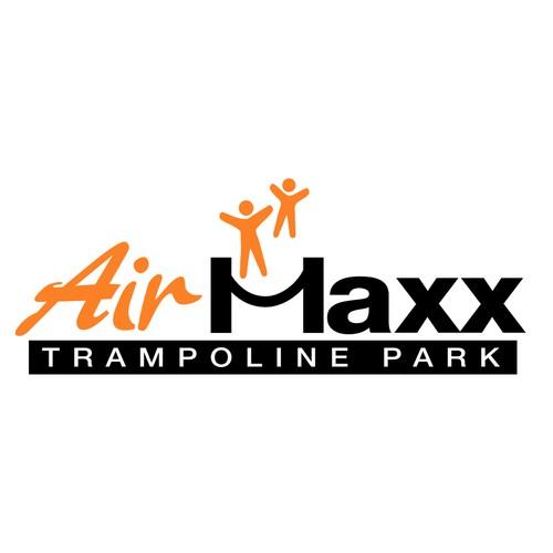 Winning logo for Air Maxx Trampoline Park
