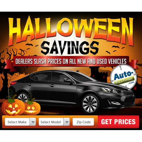 Design a Halloween Ad for an Exciting Automotive Company