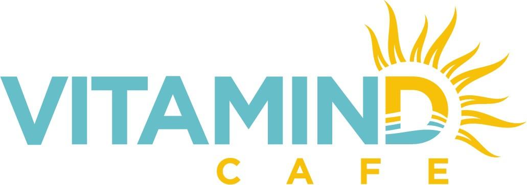 Design a sun inspired logo for Vitamin D Cafe – a caribbean beach restaurant