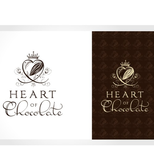 """Heart of Chocolate""  stand-out, meaningful logo"