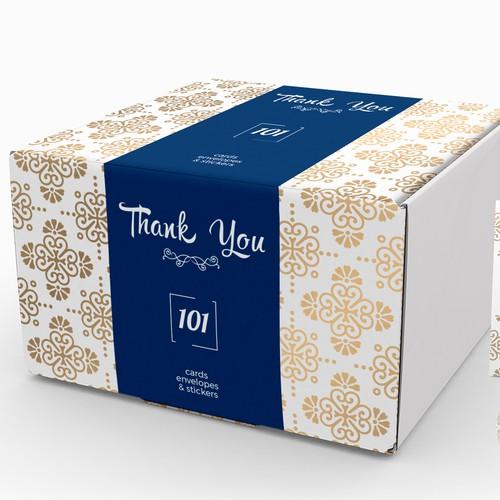 Thank you box design