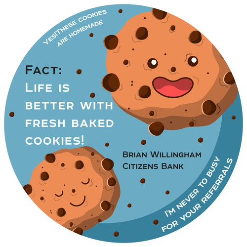 fun sticker for cookies