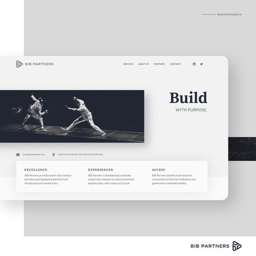 Web design/development for BIB Partners