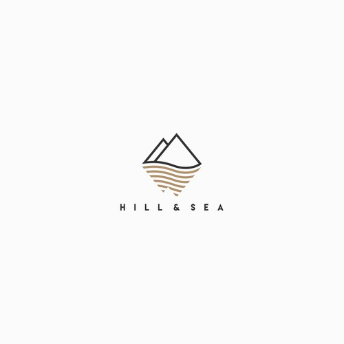 Clean, simple and minimalist logo for HILL & SEA