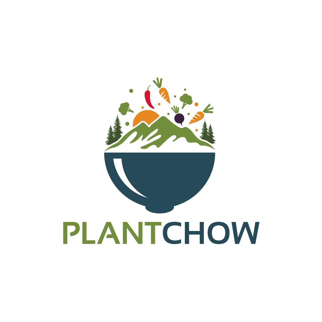 PlantChow (Plantbased Hiking Food) Logo