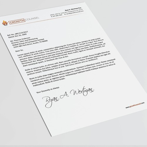 Professional, Simple and clean Stationery for a Law Firm