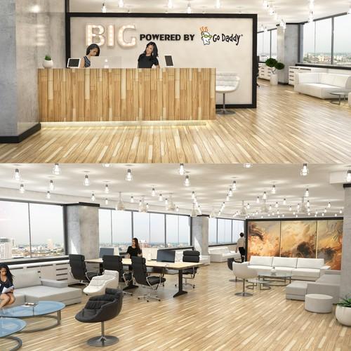 Interior design for tech accelerator center
