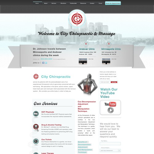 Help City Chiropractic with a new website design