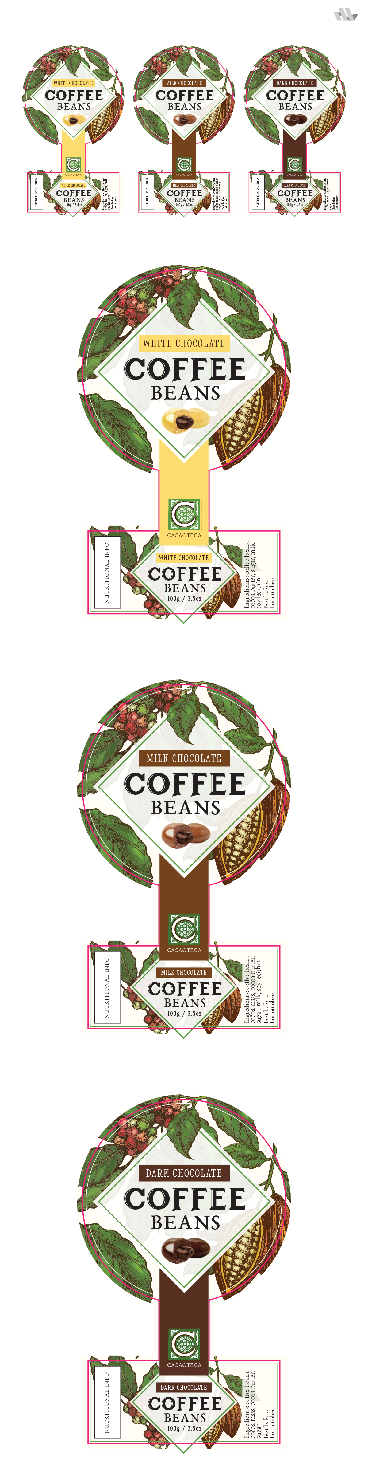Chocolate covered coffee - label
