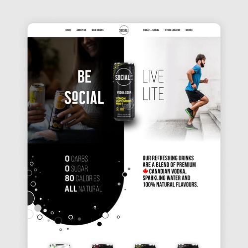 Website for Vodka Soda Company