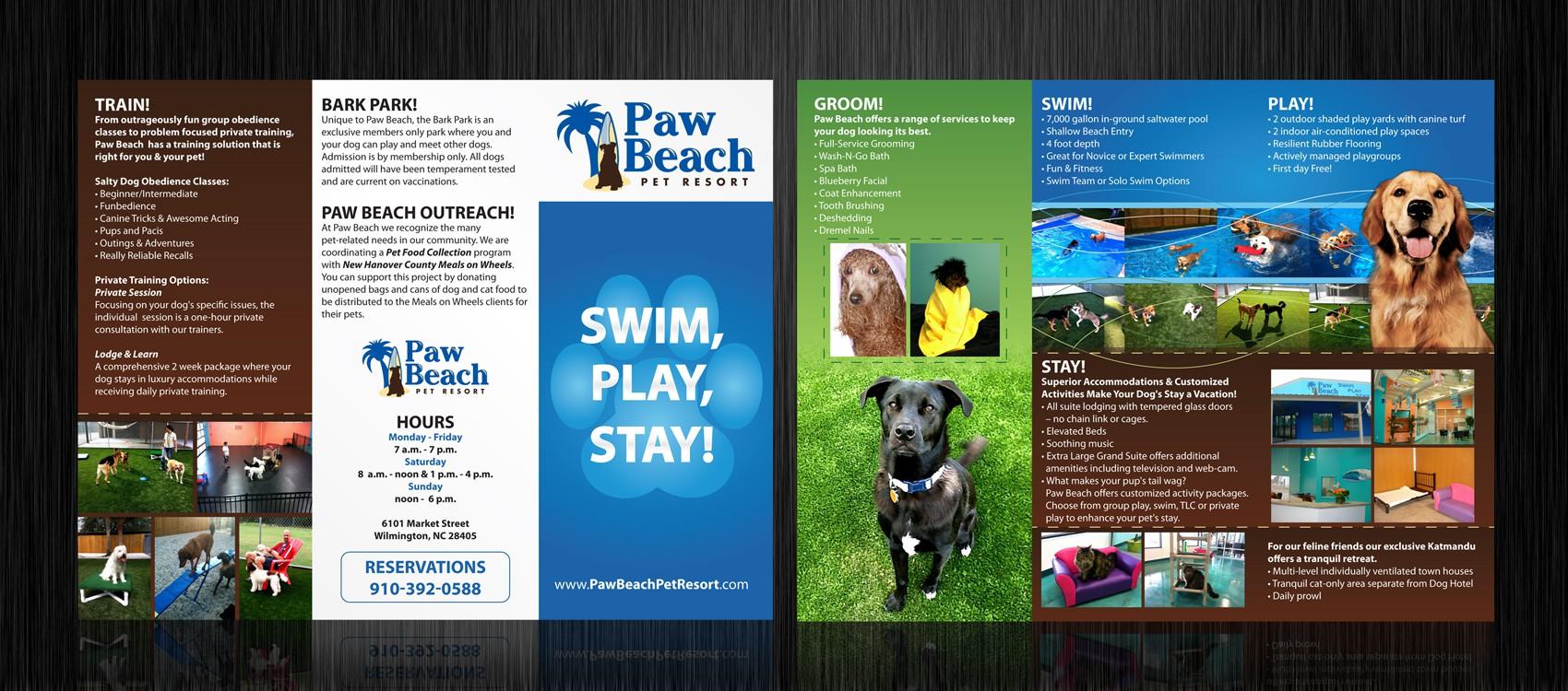 print or packaging design for Paw Beach Pet Resort