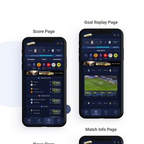 Football Website design