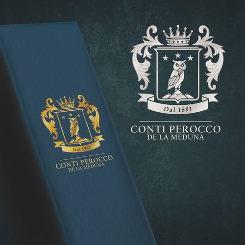 Coat of arms design for a classic wine company.