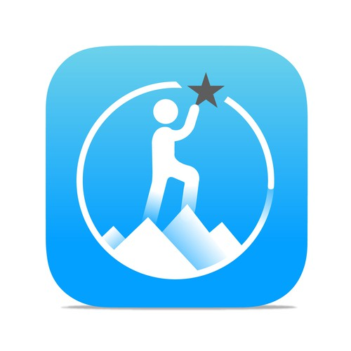 iOS app icon for a motivation and success app