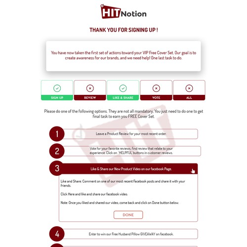 Clean Survey Page