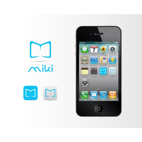 "Iconic logo needed for Miki - ""Beautiful Story"" reading app"