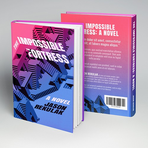 Ombre (Gradient) Book Cover Impossible Figure