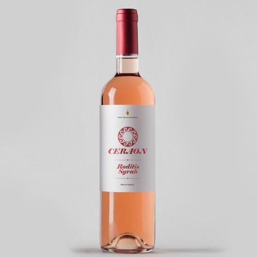 Label design for wine bottle.