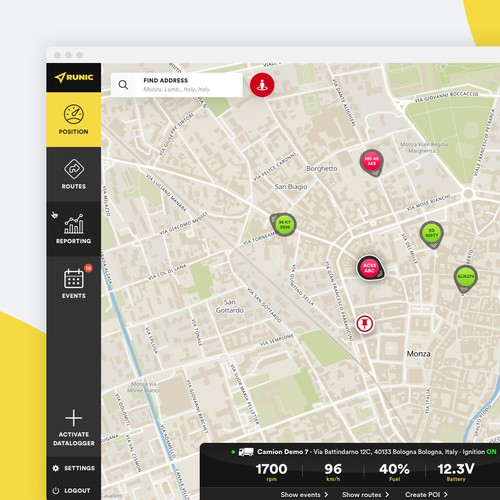 Vehicle Tracking Web App (Desktop)