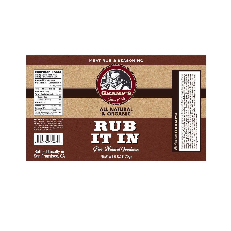 Create your Product Logo, Label for Gramp's Rubs & Seasonings